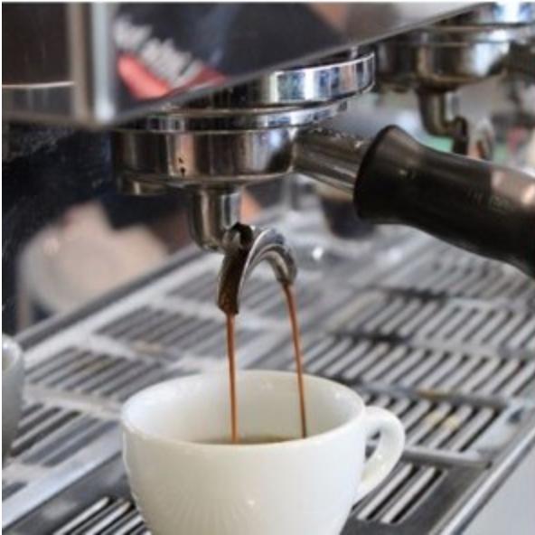 La Marzocco machine making coffee